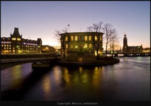 Strömsborg i december-ljus