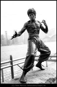 Bruce Lee Framkallad som svartvit
