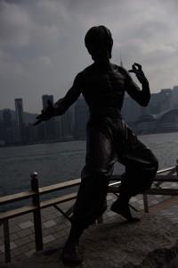 Felexponerad Bruce Lee direkt ur kameran