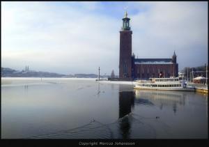 Stockholm vintermotiv
