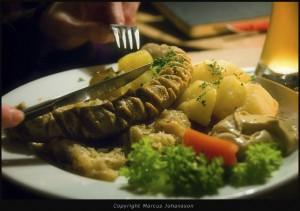 Bratwurst med surkål