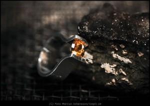 Silverring med Sten