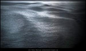 Regn möter vågor