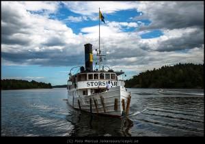 Ångbåt i Stockholm skärgård