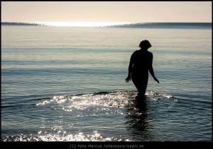 Morgondopp vid Knäbäcks stranden