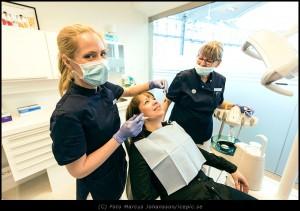 Tandläkare på praktiken