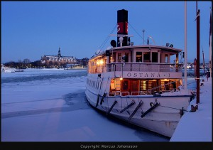 Vintermotiv Stockholm Mars 2005