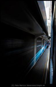 Tram in the move